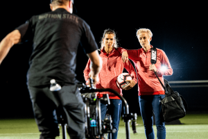 BEHIND-THE-SCENES FROM OUR PRODUCTION WITH SOCCER STARS MEGAN RAPINOE AND TOBIN HEATH